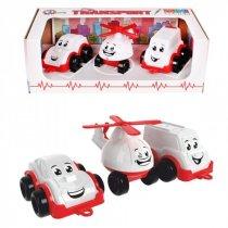 Набор игрушечного Транспорт Мини, белый, пластик в коробке тм ТехноК KM5811