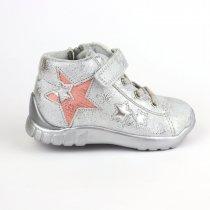 Серебристые ботинки для девочки Звезда тм Bi&Ki