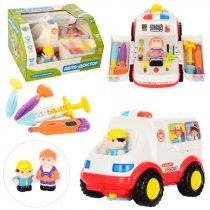 Скорая помощь музыкальная, подсветка, движение на батарейках, в коробке , для детей
