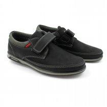 Черные туфли для мальчика на липучке  тм Том.М