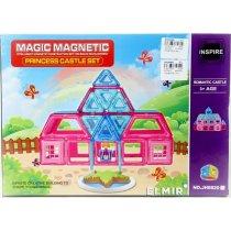 Игрушка Конструктор магнитный Дом 57 деталей, в коробке, 34-25-6,5см