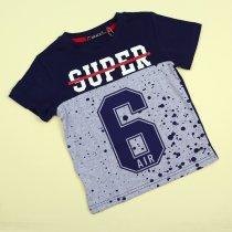 Футболка для мальчика Super 6AIR синяя тм Grace
