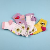 Детские носки для девочки с рисунком Сердечки сетка тм ЕКО