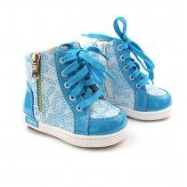 Демисезонные ботинки на девочку, голубые с узором тм Tom.m