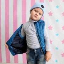 Жилет с капюшоном Весна осень для мальчика Синий тм Одягайко