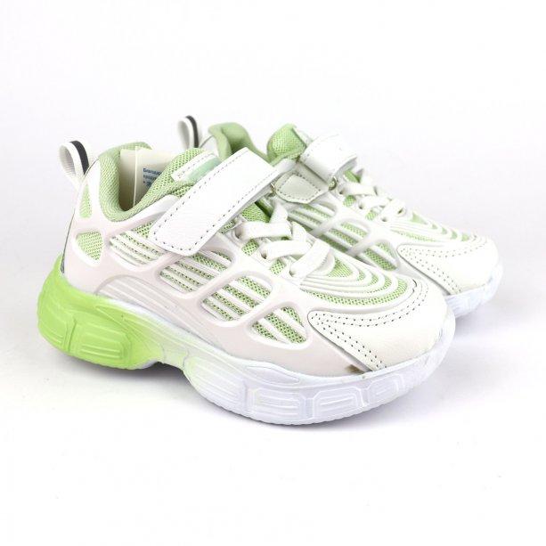 Кроссовки детские девочке белые с салатовым тм Том.м
