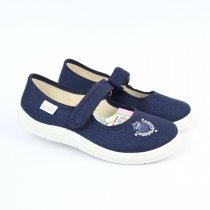 Детские текстильные туфли с ремешком Alina
