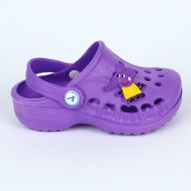 Фиолетовые кроксы с джибитс для девочки тм Виталия