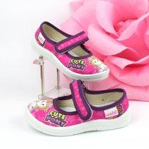 Текстильные детские туфли тапочки Алина пони тм Waldi