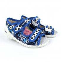 Детские текстильные туфли тапочки на мальчика Тарас Мяч тм Waldi