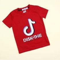 Детская футболка для мальчика красная Disk-the тм Grace