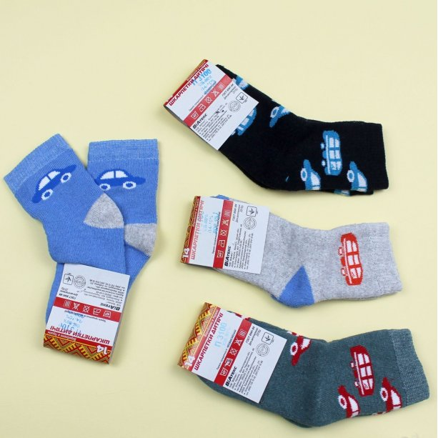 Детские махровые носки для мальчика тм Виатекс размер 14