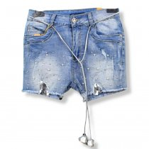 Джинсовые шорты девочка тм Grace бусины