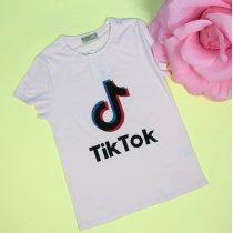 Детская футболка для девочки Tik-tok розовая тм Glo-Story
