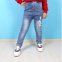 Светлые джинсы для детей на резинке