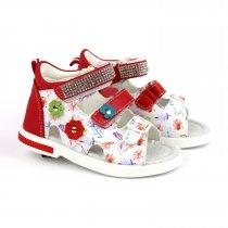 Красные босоножки для девочки с открытым носком тм Том.м