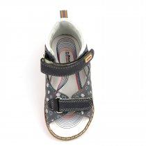 Кожаные серые босоножки для мальчика серия Ортопед тм Bi&Ki