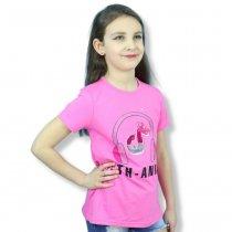 Футболка для девочки Наушники пайетки-перевертыши розовая тм Grace