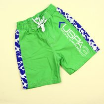 Пляжные шорты для мальчика Uspa 3 салатовые тм Glo-Story