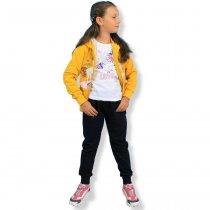 Спортивный костюм Единорог для девочки трехнитка Seagull