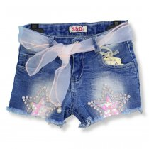 Детские джинсовые шорты с пайетками Звезды тм S&D