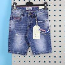 Детские джинсовые бриджи для мальчика с брелком на пояс тм S&D
