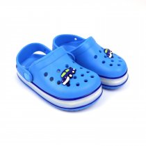 Кроксы для  мальчика с led подсветкой голубые тм GIOLAN