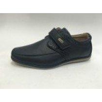 Школьные синие туфли и мокасины броги для мальчика на липучке тм Том.м