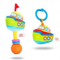 Игрушка Подвеска на коляску катер, 16см, растяжка, на листе, в кульке,12-16-5см