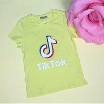 Детская футболка для девочки Tik-tok желтая тм Glo-Story