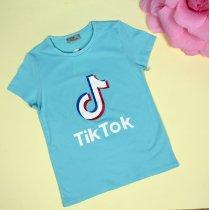 Детская футболка для девочки Tik-tok голубая тм Glo-Story