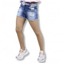 Шорты джинсовые на девочку с пояском тм S&D