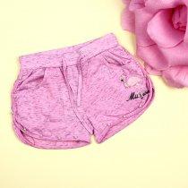Трикотажные шорты для девочки Фламинго розовые тм S&D