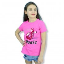 Футболка девочке Music пайетки-перевертыши розовая тм Grace