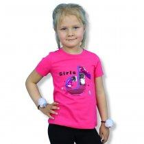 Футболка для девочки Girls с пайетками перевертышами малиновая тм Grace
