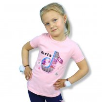 Футболка для девочки Girls с пайетками перевертышами розовая тм Grace