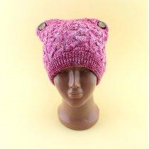 Детская, подростковая вязаная шапка для девочки тм Vdags размер 52-54
