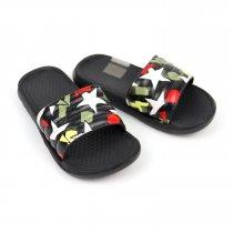 Детские шлепки Звезды черные пляжная обувь тм GIOLAN