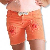 Цветные шорты для девочек с вышивкой