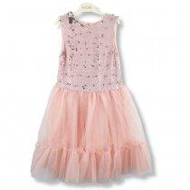 Детское Платье для девочки розовое с пайетками-перевертышами тм Myzcello