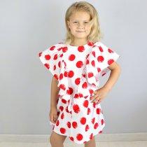 Детское платье ромб горох