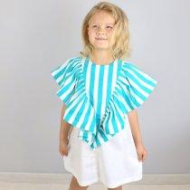 Детское платье ромб полоска