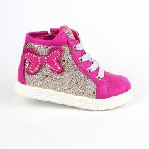 Ботинки на девочку розовые Баьочка демисезонны Bi&Ki