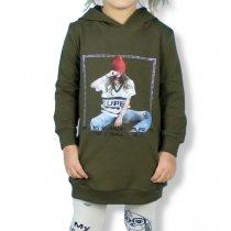 Детская туника с капюшоном на манжетах Девушка тм Toontoy