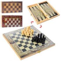 Шахматы 3в1 шашки, нарды, в кульке, 27,5 -14-3,5 см KM28ACD