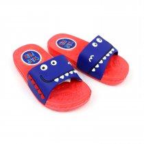 Детские шлепки Зубастики коралловые пляжная обувь тм GIOLAN