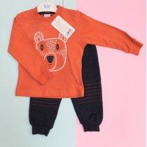 Костюм трикотажный для мальчика Мишка: кофта, спортивные штаны