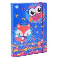 """Папка для тетрадей картонная В5 """"Charming animals"""" для детей"""
