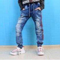 Детские джинсовые джоггеры для мальчика с лампасами тм S&D Jeans