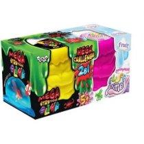 """В'язка маса """"2 в 1 """"Mega Stretch Slime"""" та """"Fluffy Slime"""" рос (6) KMFLS-03-01"""